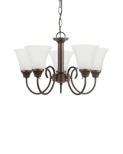 Sea Gull Lighting Holman 5-Light Chandelier, Bell Metal Bronze