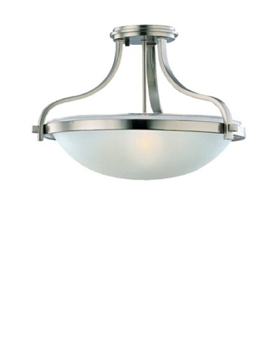 Sea Gull Lighting 3-Light Eternity Semi-Flush Fixture, Brushed Nickel
