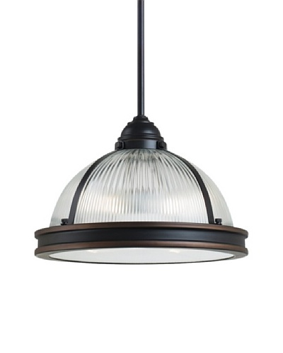 Sea Gull Lighting Pratt Street Prismatic 2- Light Pendant, Autumn Bronze
