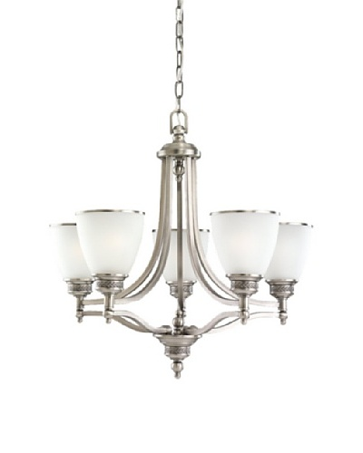 Sea Gull Lighting 5-Light Laurel Leaf Chandelier [Antique Brushed Nickel]