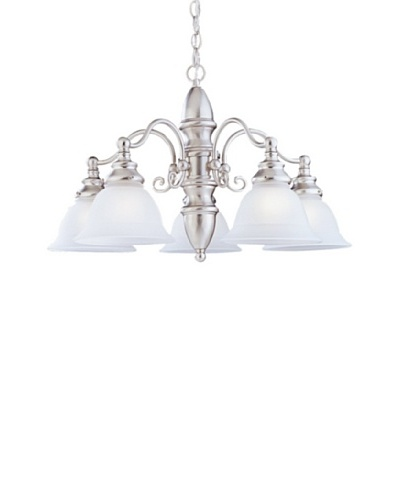 Sea Gull Lighting Canterbury 5-Light Chandelier, Brushed Nickel