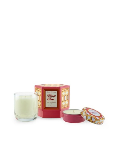 Seda France Pink Frangipani Lily Bon Chic Candle and Travel Tin Set