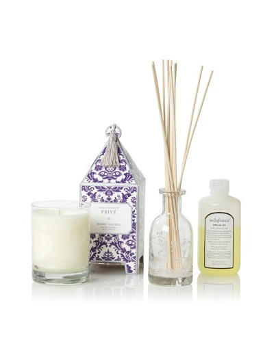Seda France Privé Pagoda Candle and Diffuser Set, Berry Laurel