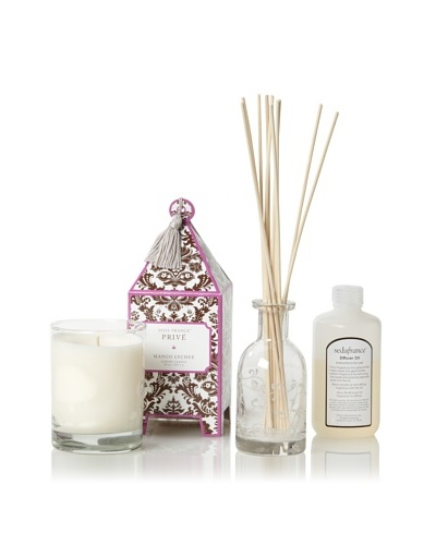 Seda France Privé Pagoda Candle and Diffuser Set, Mango Lychee