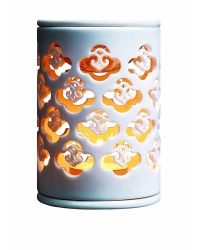 Serene House Porcelain Odeau Nuage Tea Light Candle Container, White