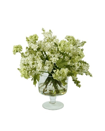 Winward Faux Lilac in Glass, White