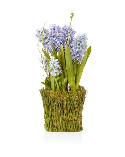 Winward Faux Hyacinth Twig Basket, Multi
