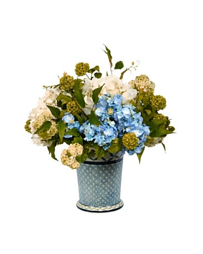 Winward Potted Faux Hydrangea Mix, Blue/White