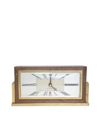 Seth Thomas Vintage Alarm Clock, Wood/Gold