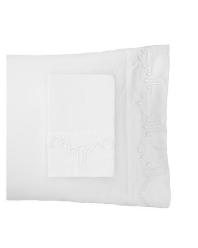1891 by SFERRA Set of 2 Frou Frou Cotton Pillowcases