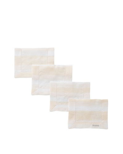 Sferra Set of 4 Piccadilly Cocktail Napkins, Bayberry