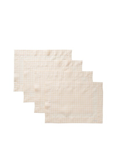 Sferra Set of 4 Piccadilly Placemats, Apricot