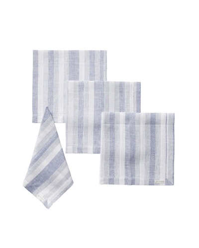 Sferra Set of 4 Ascot Dinner Napkins, Lagoon