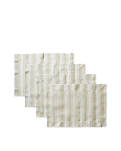 Sferra Set of 4 Ascot Placemats, Olive