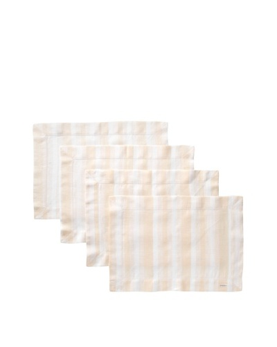 Sferra Set of 4 Ascot Placemats, Apricot
