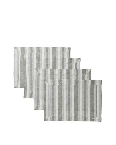 Sferra Set of 4 Ascot Placemats, Forest