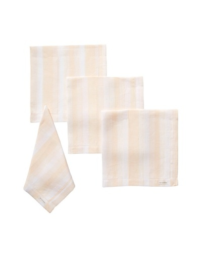 Sferra Set of 4 Ascot Dinner Napkins, Apricot