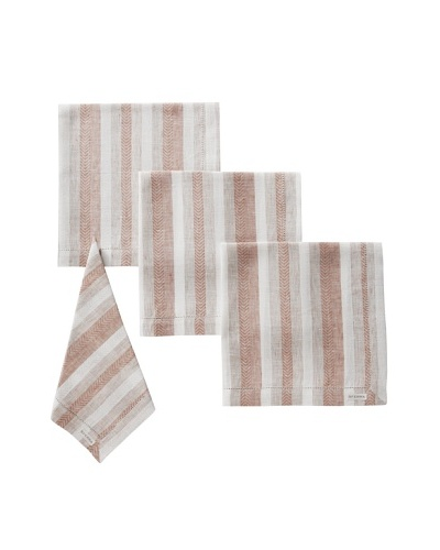 Sferra Set of 4 Ascot Dinner Napkins, Hazelnut
