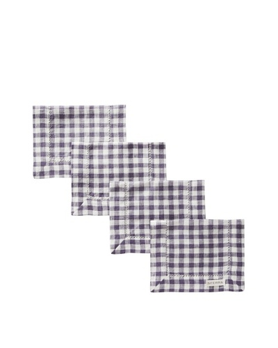 Sferra Set of 4 Piccadilly Cocktail Napkins, Violet