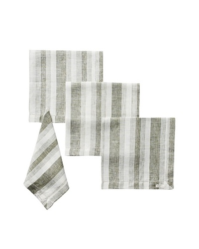 Sferra Set of 4 Ascot Dinner Napkins, Forest