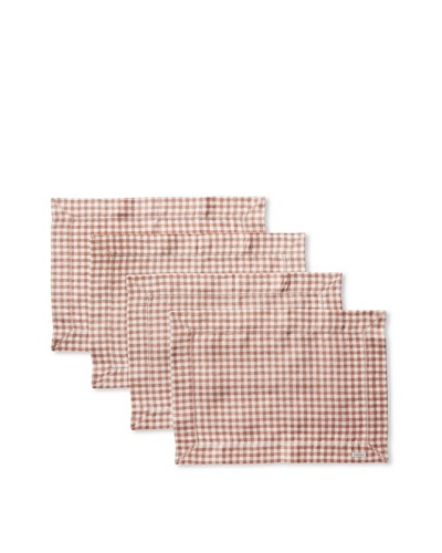 Sferra Set of 4 Piccadilly Placemats, Nutmeg