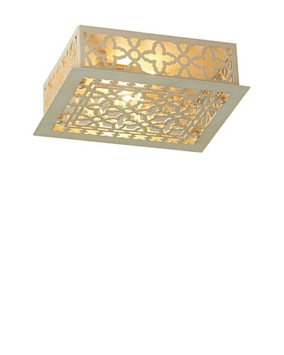 Shades of Light Reproduction Iron Grate Flush Mount Ceiling Light