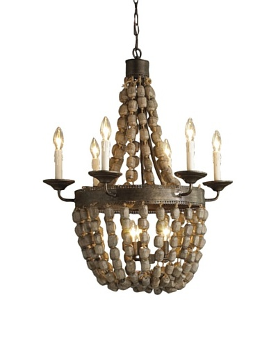 Shades of Light Beaded Basket Chandelier