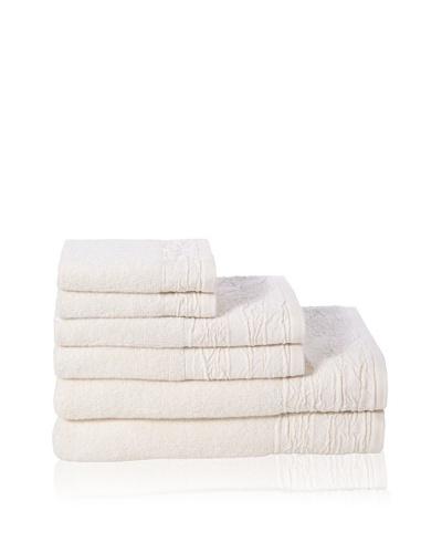 Mili Designs Set of (6) 500-Gram Bath Towels, Ivory