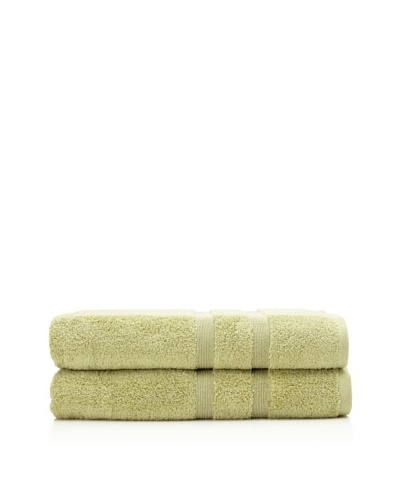 Esplama 2-Piece Mandarin Bath Sheet Set, Jade Green, 35 x 70