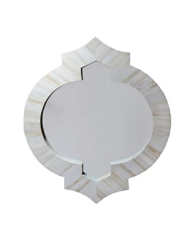 Shine Creations Bone Frame Mirror, White