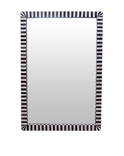 Shine Creations Bone Frame Mirror, Black/White