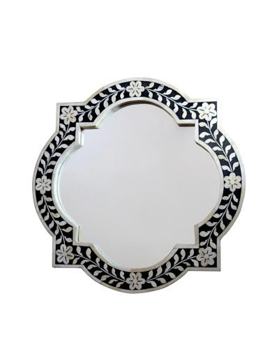 Shine Creations Bone Frame Mirror, Black/White