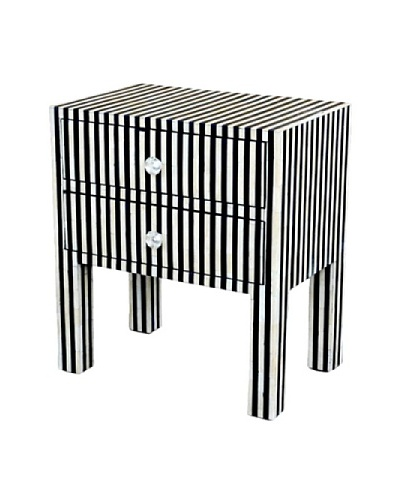 Shine Creations Bedside Table, Black
