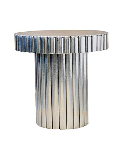 Shine Creations Metal Wrapped Table, White