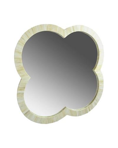 Shine Creations International Tuscany Mirror with White Bone Inlay Frame, Small