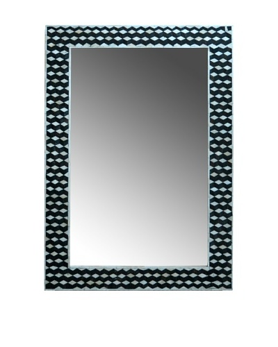 Shine Creations International Mirror with Brown, Black and Bone 3D Inlay Frame