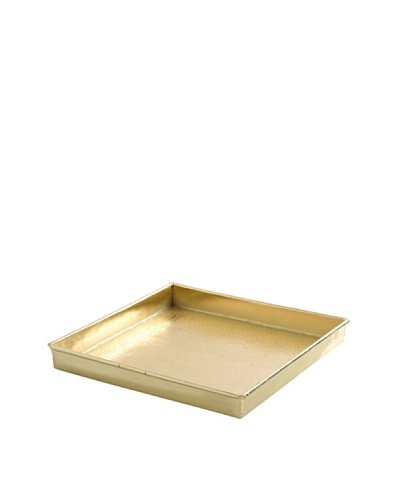 Shiraleah Mirage Square Tray, Brass