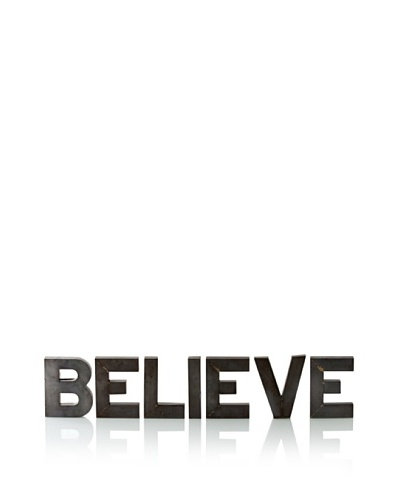 Shiraleah Believe Recycled Tin Display Letters
