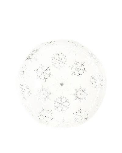 Shiraleah Let It Snow Platter, White/Silver