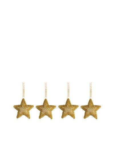 Shiraleah Set of 4 Beaded Star Ornaments