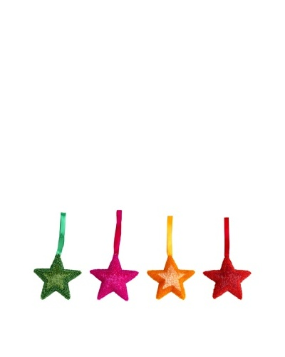 Shiraleah Set of 4 Assorted Beaded Star Ornaments