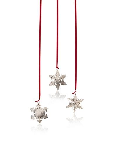 Shiraleah Set of 3 Snowflake Ornaments [Silver]