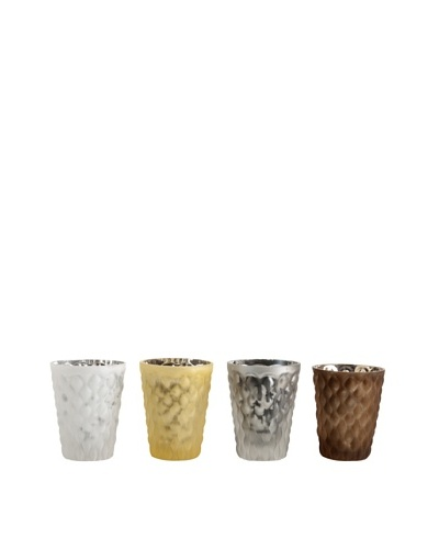 Set of 4 Assorted Chantilly Votive Holders