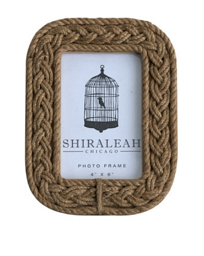 Shiraleah Braided Rope 4 x 6 Picture Frame, Brown