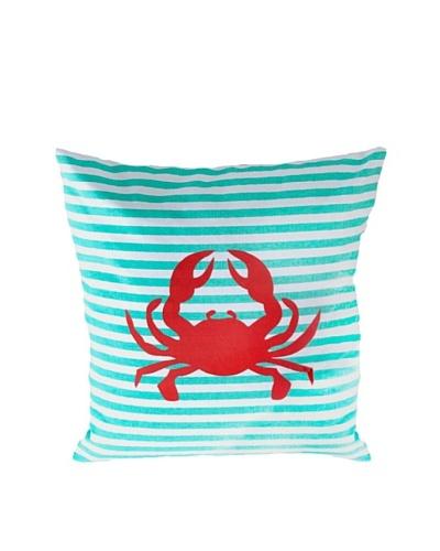 Shiraleah San Sebastian Crab Pillow, Turquoise