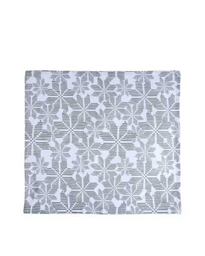 Shiraleah Set of 3 Assorted Snowflake Napkins, Silver