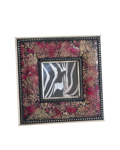 Shiraleah Fes Ruby Crushed Mosaic 4 x 4 Picture Frame