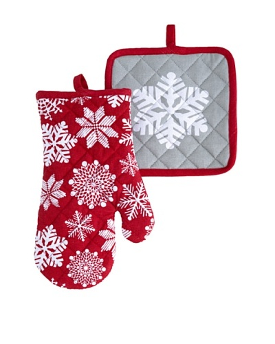 Shiraleah Snowflake Oven Mitt & Pot Holder Set