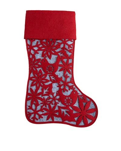 Shiraleah Holiday Spirit Stocking, Red