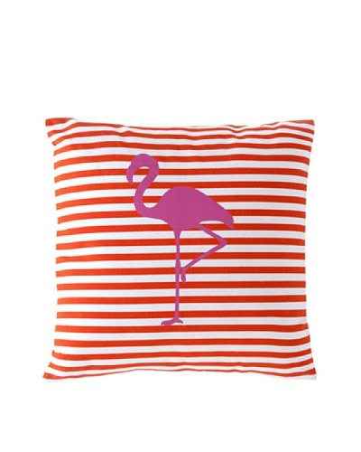 Shiraleah Miami Flamingo Pillow, Orange